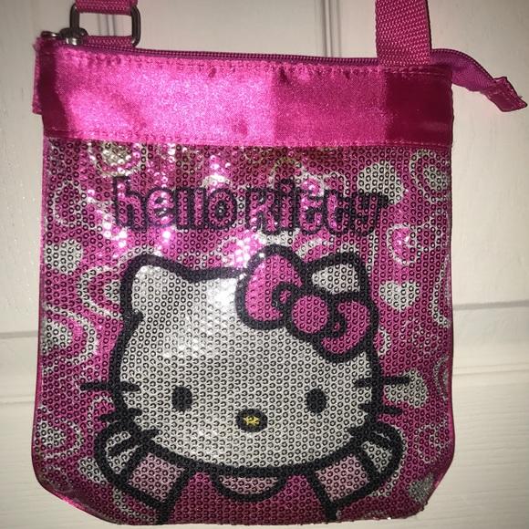 d4cd50e86b Hello Kitty Handbags - Girls Hello Kitty sequin and satin crossbody